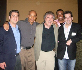 "At the SAG Singers' ""Meet The Composer II"" event at the WGA Theater in Beverly Hills, May 4th, 2009, where we were all honoring composer Marc Shaiman. In the photo (left to right): SAG singers Dylan Gentile, Tonoccus McClain, Randy Crenshaw, John West, and Fletcher Sheridan. The event was a great success and a lovely time was had by all..."